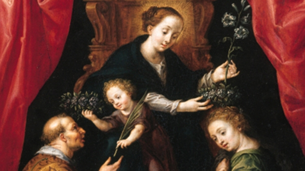 St. Lawrence hands the Christ Child a palm branch