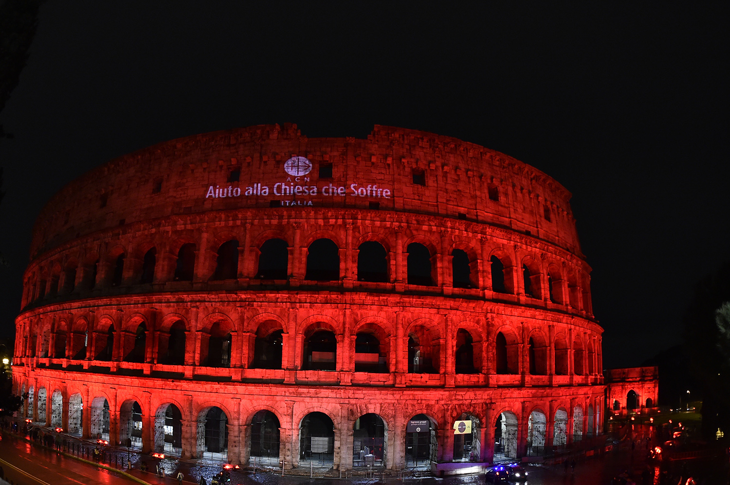 ACN Event - Illuminated Coliseum in Red