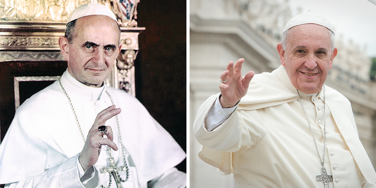 POPE FRANCIS AND POPE PAUL VI