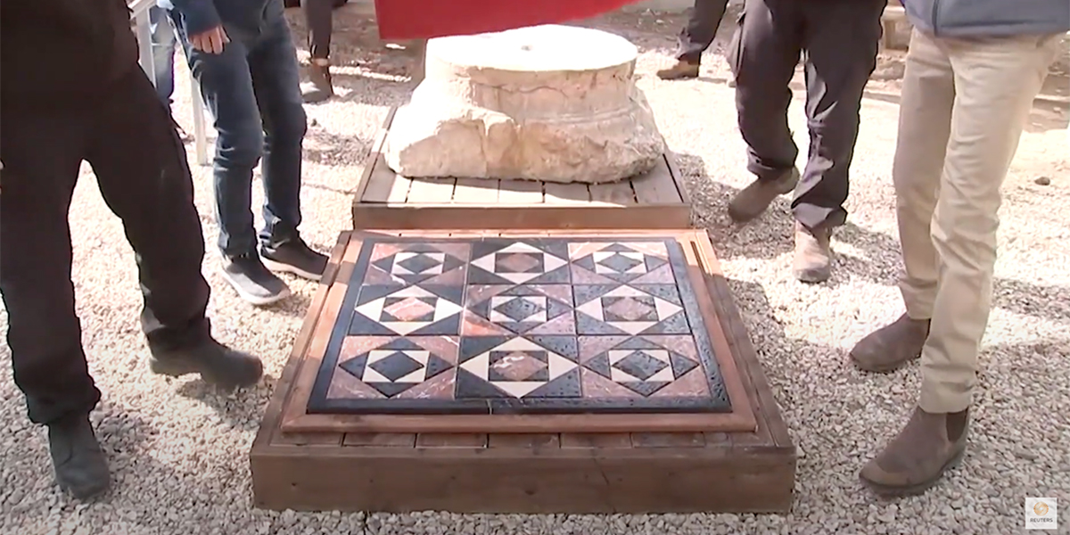 Archaeologists recreate tiles from time of Jesus