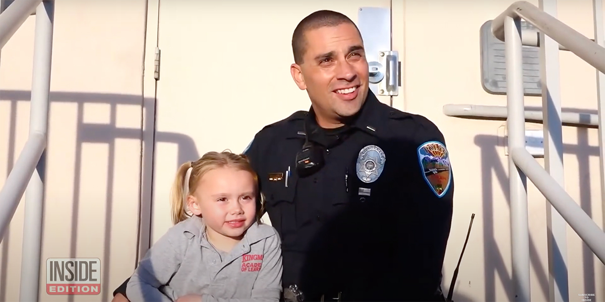 Police officer adopts little girl he cared for while on duty