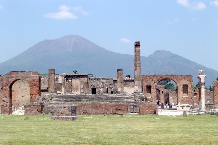 Pompeii, with Vesuvius