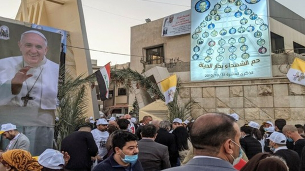OUTSIDE OUR LADY OF SALVATION Catholic Church IN BAGHAD