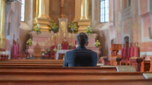 MAN, PRAY, CHURCH