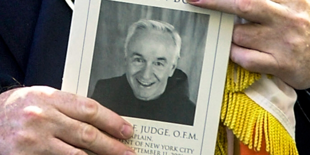 Kneeler of Fr. Mychal Judge donated to 9/11 Museum