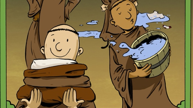 THE MONKS MAKE AMENDS