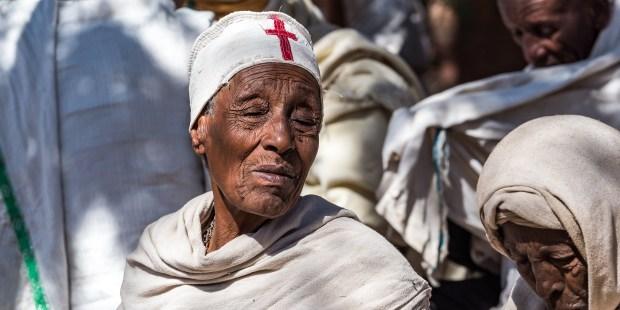 Ethiopian Orthodox pilgrims