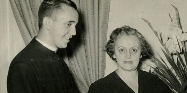 Regina Bergoglio and Pope Francis