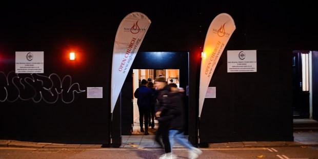 "(slideshow) ""Nightfever"" at London church  invites passerby inside to encounter Jesus"