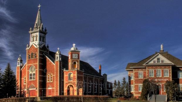 St. Jean Baptiste Church in Morinville, Alberta, Canada