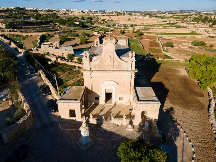 Arial view of Santa Marija Tal-Hlas Chapel