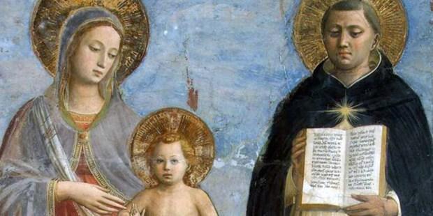 MOTHER MARY AND SAINT THOMAS AQUINUS