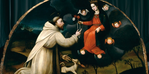 saint dominic receives the rosary