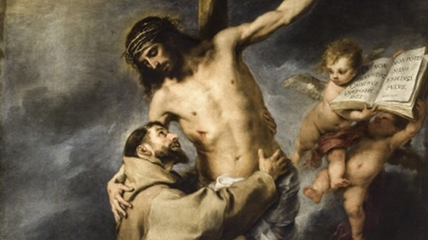 """""""St. Francis embracing Christ on the Cross"""